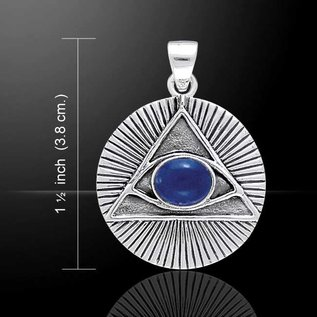OMEN Eye of the Pyramid Pendant with Lapis