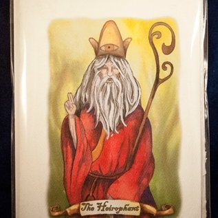 OMEN The Heirophant - Tarot Greeting Card