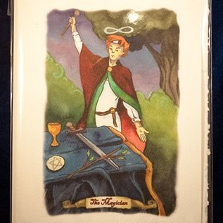 OMEN The Magician - Tarot Greeting Card