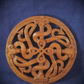 OMEN Celtic Fertility Knot Wall Hanging in Mahogany