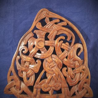 OMEN Celtic Book of Kells Knot Wall Hanging in Mahogany