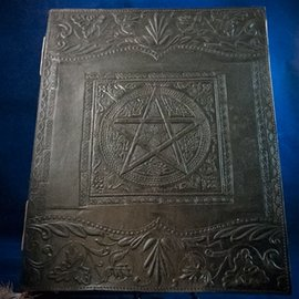 OMEN Large Pentacle in Square Journal in Black