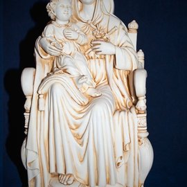 OMEN Madonna and Child statue