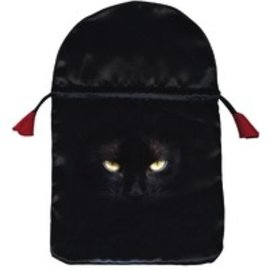 OMEN Black Cat Satin Tarot Bag