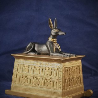 OMEN Anubis Jackal on Gold Platform Box