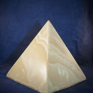 OMEN Alabaster Pyramid for Light - Made in Egypt at 11 Inches High