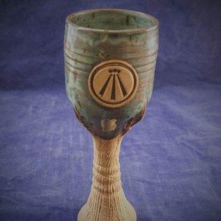 OMEN Spirit of Wood Goblet in Green with Awen Symbol
