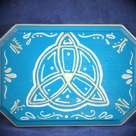 OMEN Gold Trinity Knot Pendulum Board