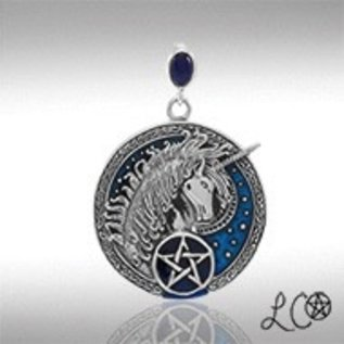 OMEN Laurie Cabot's Celtic Unicorn with Lapis Pendant