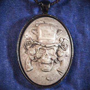 OMEN Skull in Top Hat Necklace