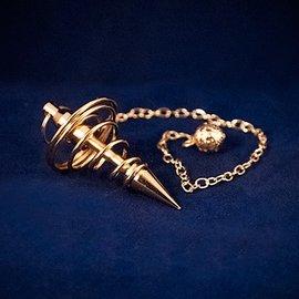 OMEN Brass Spiral Metal Pendulum