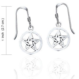 OMEN Pentacle Dangle Earrings