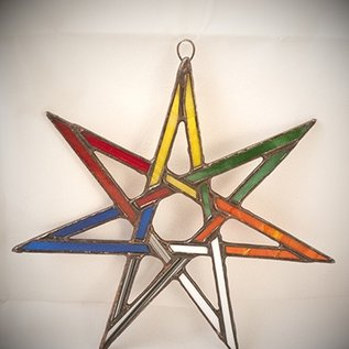 OMEN Fairy Star in Planetary Colors Suncatcher