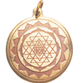 OMEN Shri Yantra Charm Pendant for Good Luck