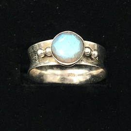 OMEN Faceted Labradorite Ring