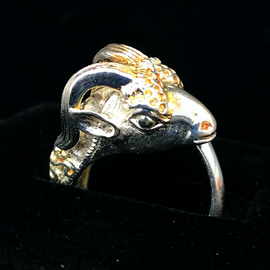 OMEN Sterling Silver Ram's Head Ring