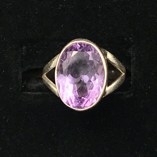 OMEN Faceted Amethyst Oval Ring