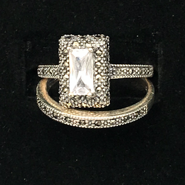 OMEN Stacking Marc CZ Rectangle Rings