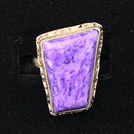 OMEN Sterling Charoite Ring