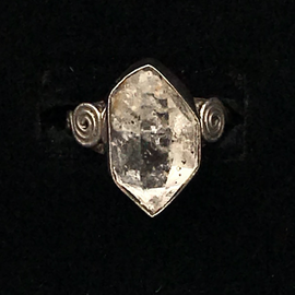 OMEN Herkimer Diamond Ring Sterling Silver