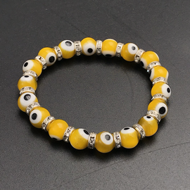 OMEN Evil Eye Bracelet Yellow 4mm