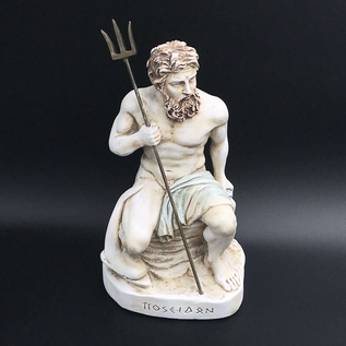OMEN Ancient Greek Poseidon statue made in Greece - 9 inches tall