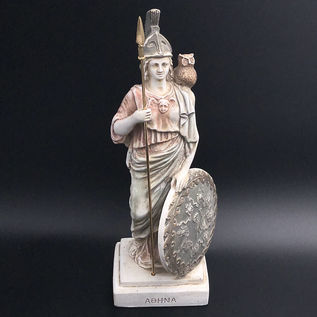 OMEN Ancient Greek Goddess Athena statue made in Greece - 12.4 inches tall