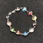 OMEN Multi Color Evil Eye Bracelet in Sterling silver