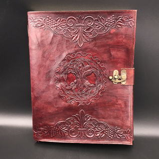 OMEN Large Celtic Tree Journal in Brown