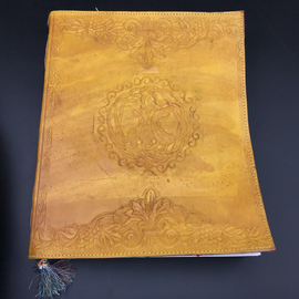 OMEN Large Celtic Tree Journal in Yellow