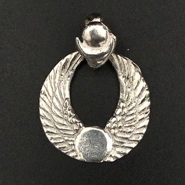 OMEN Winged Disk Pendant in Sterling Silver