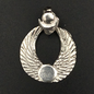 OMEN Winged Disk Pendant in Sterling Silver