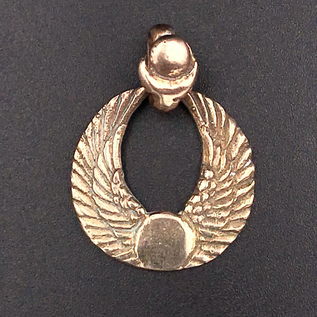 OMEN Winged Disk Pendant in Bronze
