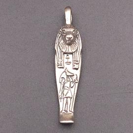 OMEN Mummiform Lioness Pendant in Sterling Silver