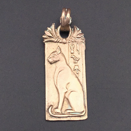 OMEN Scared Cat of Egypt Pendant in Bronze