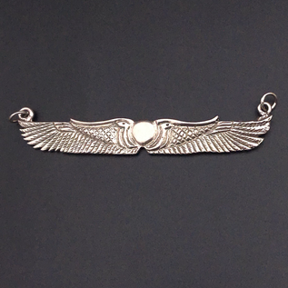 OMEN Winged Disk Choker in Sterling Silver
