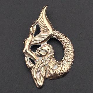 OMEN Mythical Mermaid Pendant in Bronze