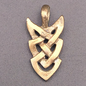 OMEN Celtic Arrow Knotwork Pendant in Bronze