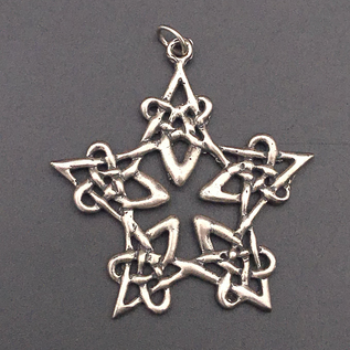 OMEN Lacework Pentagram Pendant in Sterling Silver