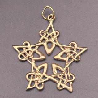 OMEN Lacework Pentgram Pendant in Bronze