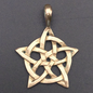 OMEN Rose Window Celtic Knot Pendant in Bronze