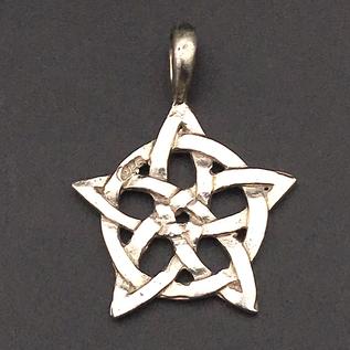 OMEN Rose Window Celtic Knot Pendant in Sterling Silver