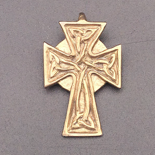 OMEN Celtic Knotwork Cross Pendant in Bronze