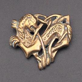 OMEN Celtic Cat Pendant in Bronze