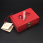 OMEN Wood Stained Love Spell Box with Crystals and Key by Official Salem Witch Laurie Cabot