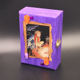OMEN Purple Bejeweled Fairy Tarot Box by Official Salem Witch Laurie Cabot