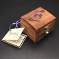 OMEN Wood Stained Money Spell Box with Keys and Jewels by Official Salem Witch Laurie Cabot