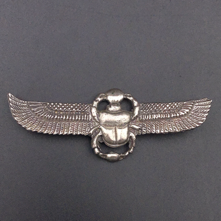 OMEN Winged Scarab Choker in Sterling Silver