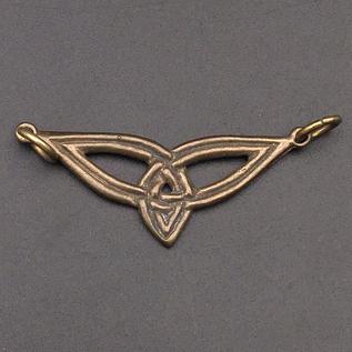 OMEN Small Triquetra Centerpiece Pendant in Bronze