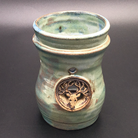 OMEN Oil Burner in Green with Horned Stag